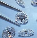 various shaped diamonds