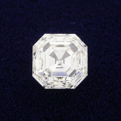 0.83 carat Asscher Cut loose diamond graded H color, VVS2 clarity