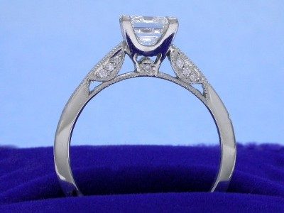 Asscher Ring with Tacori Mounting