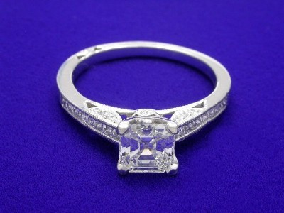 0.94 carat Asscher Cut Diamond