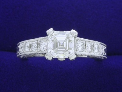 Special Offer: Asscher Cut 1.02 carat I VS1 Diamond in Richard Landi Designer Mounting