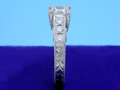 Hand Carved Diamond Ring
