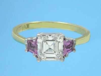 Asscher Engagement Ring