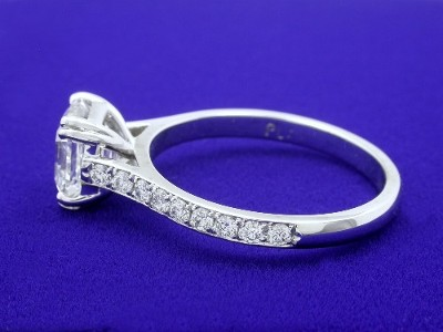 Pave-Set Diamonds on Shank of Mounting