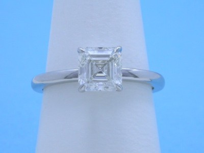 Square emerald (Asscher) cut diamond