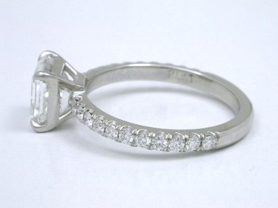 Asscher Diamond in Pave Setting