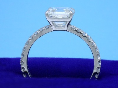 1.80 carat Asscher Cut Diamond Ring