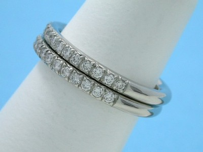 Diamond Wedding Band: 0.56 tcw Round French Style Prong Set Diamonds