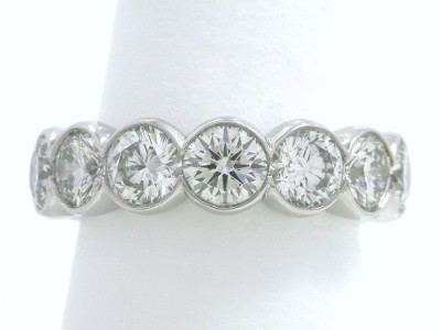 ct set bands diamond eternity round bezel band