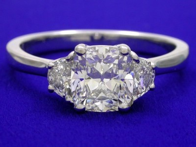 Cushion Cut Diamond Ring 1 06 Carat With 1 07 Ratio And 0