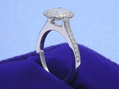 Cushion Cut and Pave Set Diamonds