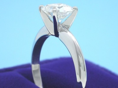 Cushion Cut Diamond Solitaire Ring