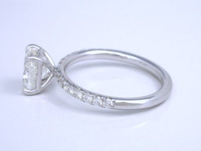 Diamond engagement ring with 1.21-carat cushion modified brilliant diamond