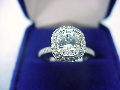 Cushion Cut Diamond Ring: 1.28 carat with Bez Ambar designer pave mounting