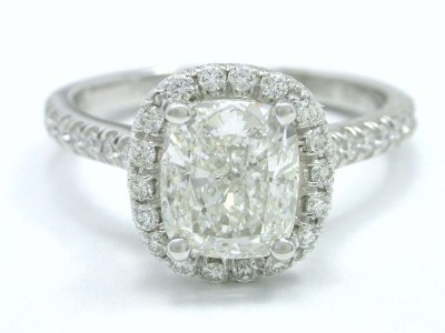 Cushion Shaped Diamond Engagement Ring