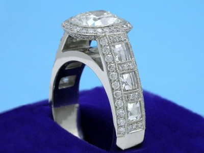 Bez Ambar Designer Mounting with Blaze Cut and Pave Diamonds