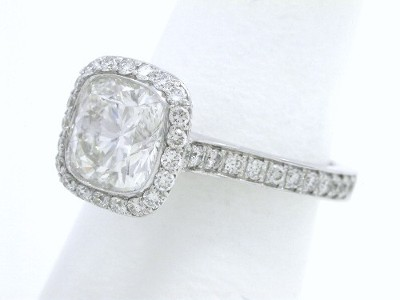 Cushion Bez Ambar Designer Diamond Ring
