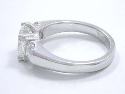 Three Stone Cushion Diamond Ring