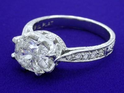 Cushion Cut Diamond Ring in Richard Landi Designer Mounting
