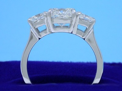 Diamond ring with a 1.82-carat cushion modified brilliant-cut diamond