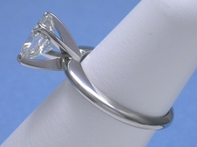 Cushion Cut Diamond Ring with Solitaire Style 4-Prong Head