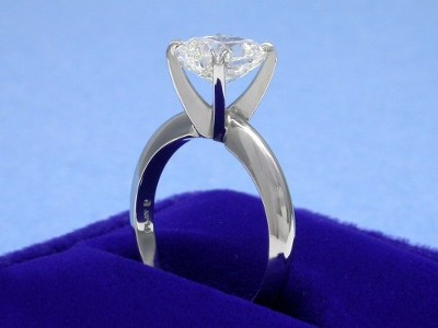 Cushion Cut Diamond Ring: 1.83 carat with 1.16 ratio in Solitaire style mounting