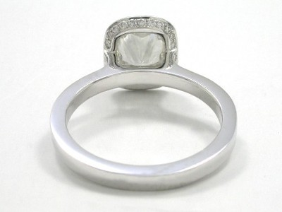 Diamond ring with a 2.01-carat cushion modified brilliant cut diamond
