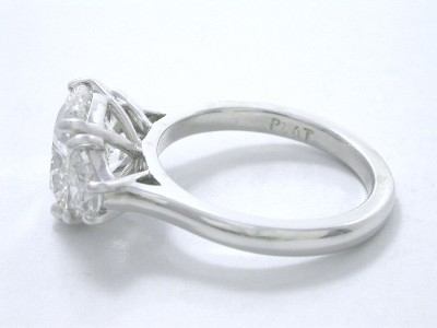 Cushion Cut Three-Stone Diamond Ring