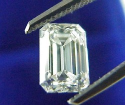 1.25 carat Emerald Cut loose diamond graded E color, VS1 clarity with 1.49 ratio