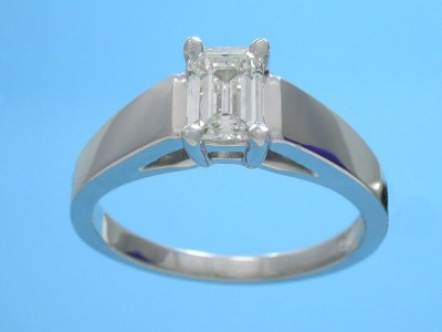 0.72 carat emerald cut diamond graded G color, VS1 clarity