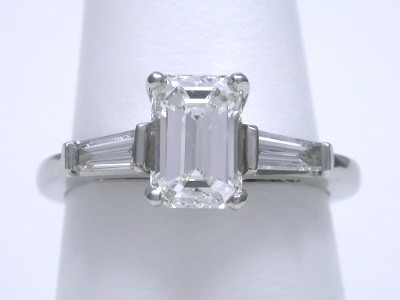 Emerald Cut Diamond Ring 1 27 Carat With 1 50 Ratio In 0