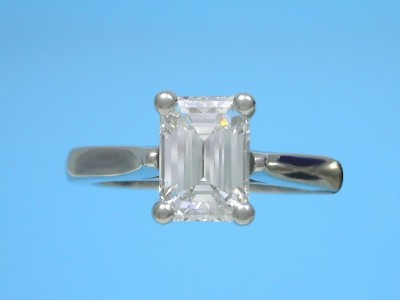 Emerald Cut Diamond Ring with Classic Basket Head