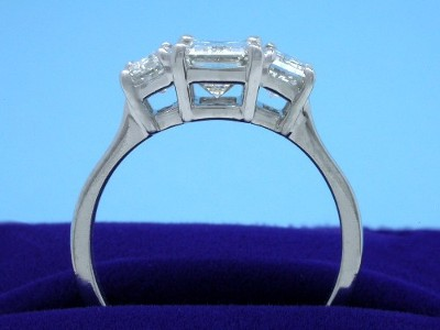 Diamond Ring with a 1.50-carat emerald cut diamond