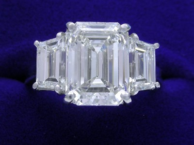 Emerald Cut 4.30 ct 2.03 tcw StepTrap-1