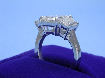 Emerald Cut 4.30 ct 2.03 tcw StepTrap-2