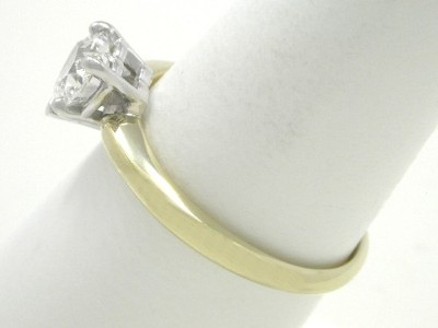Heart Solitaire Diamond Engagement Ring