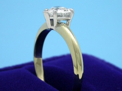 Heart Shaped Diamond Ring: 0.75 carat in 5-prong Basket Mounting