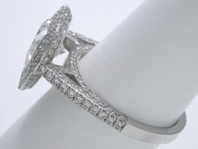 Heart Shaped Diamond Engagement Ring