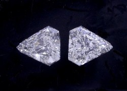 1.15 total carat weight matched Kite Brilliant diamonds graded H color and SI1 clarity