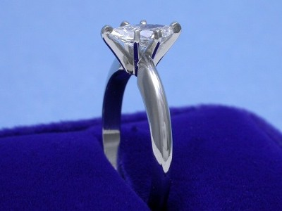 Marquise Cut Diamond Ring: 0.52 carat with 1.91 ratio in six-prong Solitaire style mounting