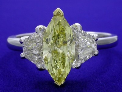 Fancy Yellow Marquise Diamond Ring