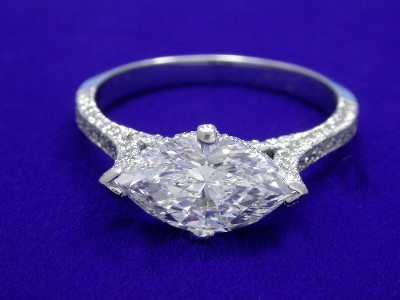 Marquise Cut Diamond Ring 1 63 Carat With 1 74 Ratio In 0