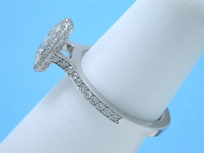 Oval Cut and Pave Bez Ambar Designer Diamond Engagement Ring