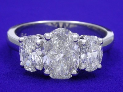 Oval Cut Diamond Ring 1 03 Carat 1 46 Ratio With 0 76 Tcw