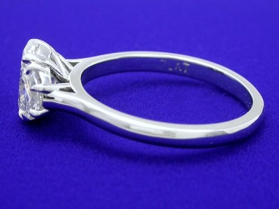 Oval Cut and Crescent Moon Diamond Ring