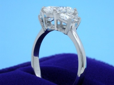 Oval Cut Diamond Ring: 1.22 carat with 1.44 ratio in 0.70 tcw Crescent Moon mounting