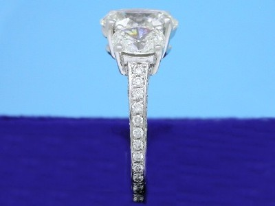 Oval Three-Stone Diamond Engagement Ring