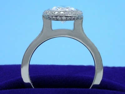 Bezel Set Oval Cut Diamond Ring