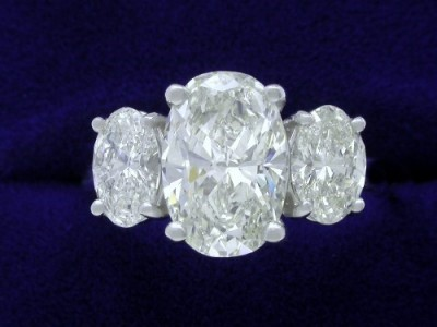 Oval Ring 1.78 ct 0.95 tcw Ovals-1
