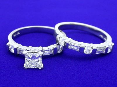 Special Offer: Princess Cut 0.60 carat H VS1 Diamond Ring Set